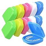 Heatoe 10 Pcs Mouth Guard Case Retainer Box Orthodontic Denture Storage Container, 5 Color...