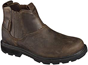 Skechers Men's Blaine Orsen Ankle Boot,Dark Brown,9.5 M US