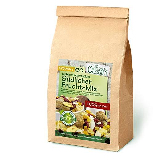 Original-Leckerlies: Südlicher Frucht-Mix 200g, Premium Qualität*** Papageienfutter, Reiner Fruchtmix aus südlichen Ländern, Futterergänzung für Papageien