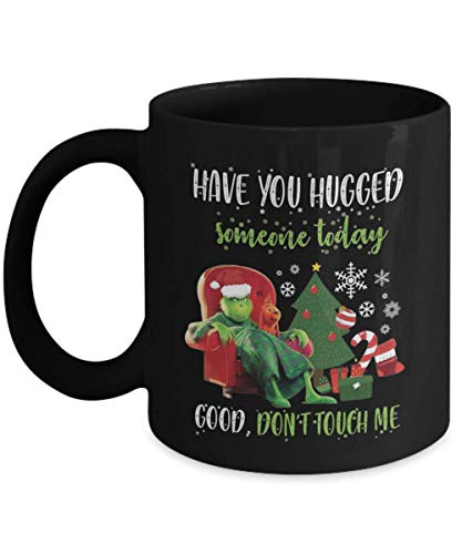shenguang Have You Hugged Someone Today Good Don't Touch Me Christmas Gift Xmas Merry Christmas café Cup Tea Jarra