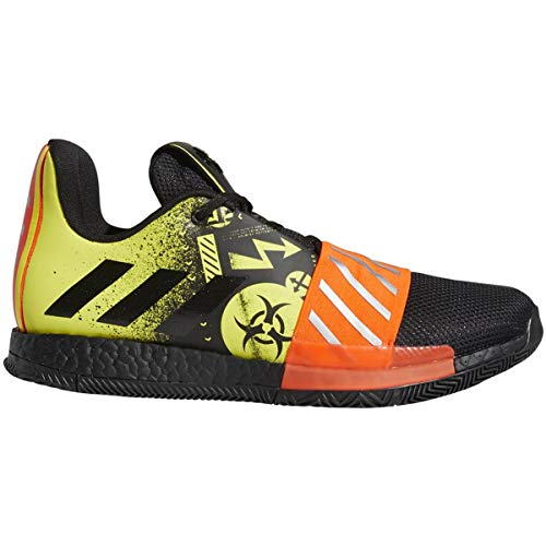 adidas Harden Vol. 3 Shoe - Men's Basketball Core Black/Shock Yellow/Solar Red