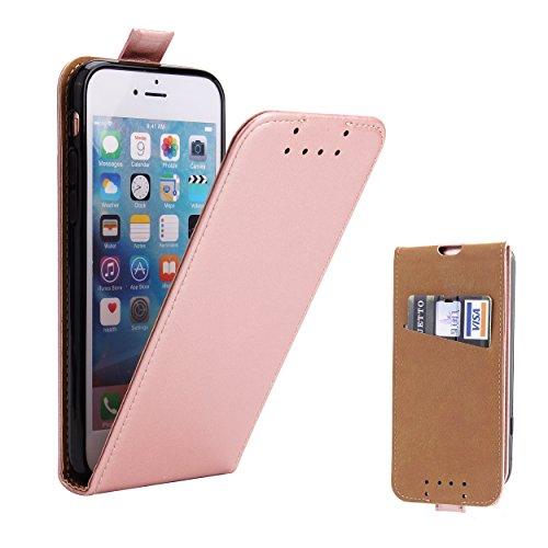 Supad iPhone 7 Hülle, iPhone 8 Hülle, Leder Tasche für Apple iPhone 7/8 4,7 Zoll Handyhülle Flip Case Schutzhülle (Rose Gold)