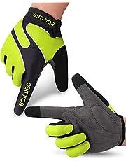 boildeg Guantes de Ciclismo,Guantes MTB,Antideslizante Pantalla Táctil,Tela Transpirable,Adecuado para Ciclismo de Montaña,Todo el Vehículo de Terreno,Bicicleta de Montaña