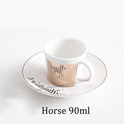 Mug Taza De Café Con Reflejo De Espejo Creative Leopard Anamorphic Cup Mirror Reflection Cup Zebra Mug Luycho Coffee Juego De Té Con Posavasos 90Ml-220Ml, 90Ml