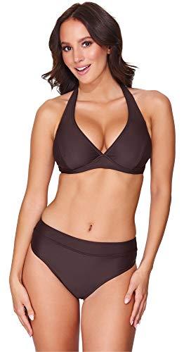 Merry Style Damen Bikini Set 74RN24(Braun(8157), Cup 105 B/Unterteil 50)