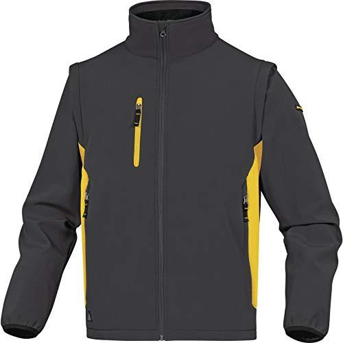 Delta Plus MYSE2GJXG Veste softshell 96 % polyester 4 % élasthanne Manches amovibles Gris/jaune Taille XL