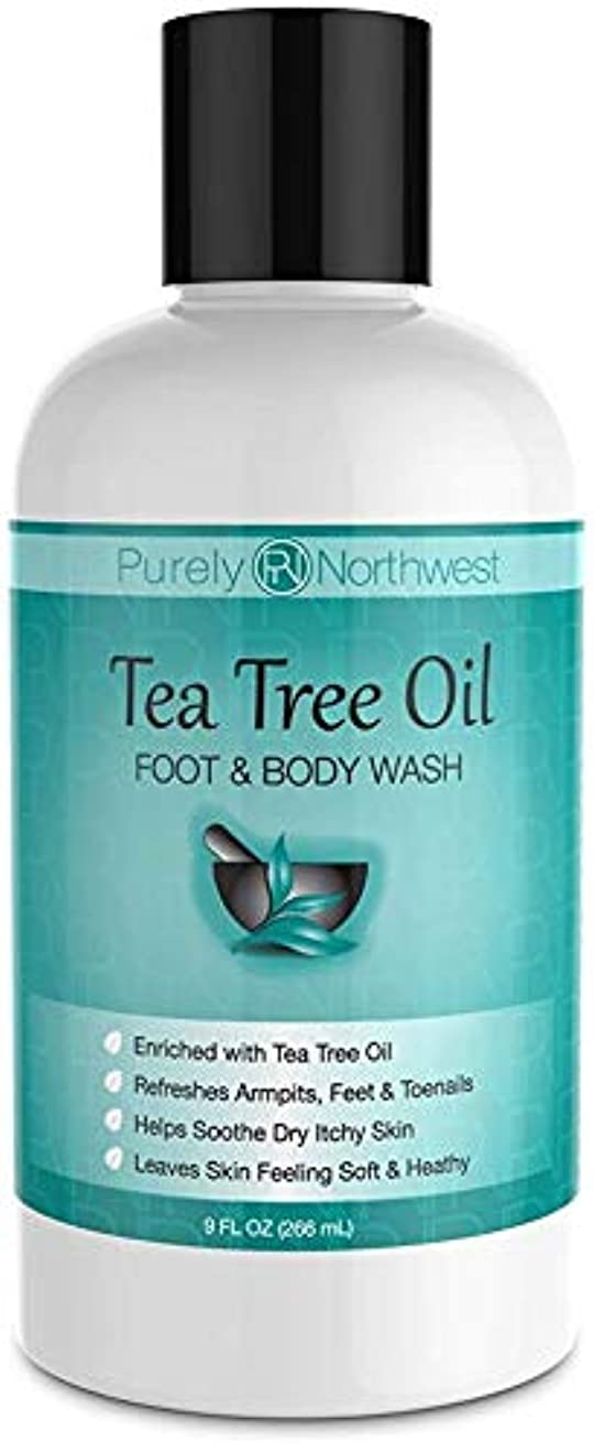 保護確認してくださいインタフェースAntifungal Tea Tree Oil Body Wash, Helps Athletes Foot, Ringworm, Toenail Fungus, Jock Itch, Acne, Eczema & Body Odor- Soothes Itching & Promotes Healthy Feet, Skin and Nails 9oz