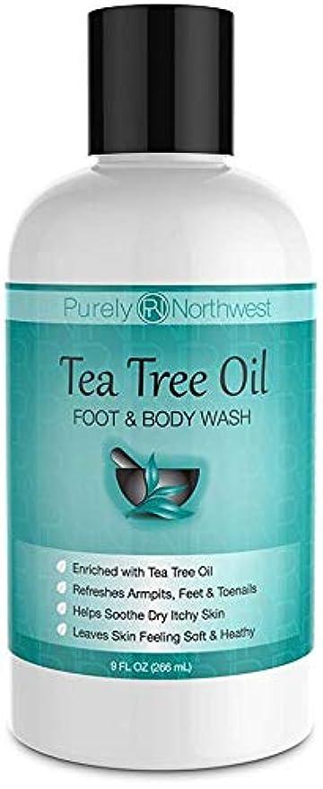 テキスト悪の幻滅するAntifungal Tea Tree Oil Body Wash, Helps Athletes Foot, Ringworm, Toenail Fungus, Jock Itch, Acne, Eczema & Body Odor- Soothes Itching & Promotes Healthy Feet, Skin and Nails 9oz