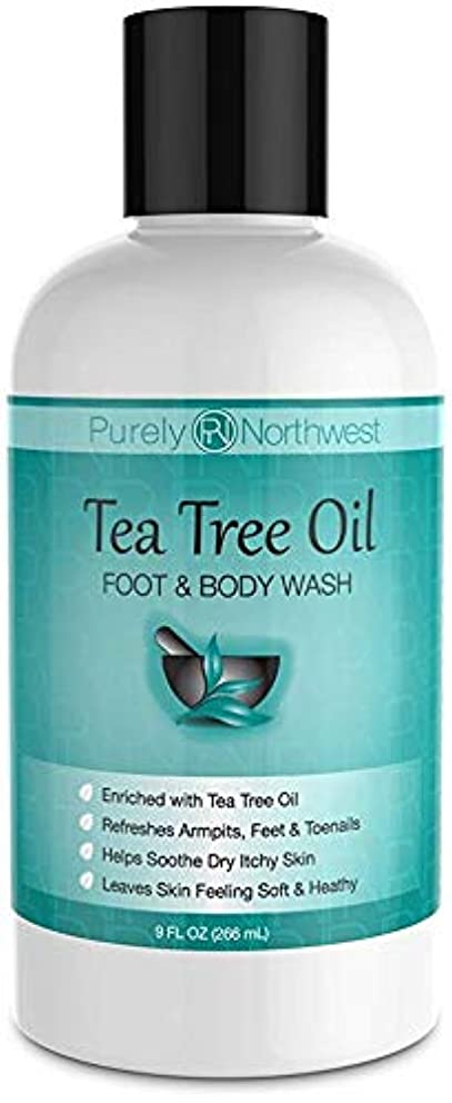 充電魅力的放出Antifungal Tea Tree Oil Body Wash, Helps Athletes Foot, Ringworm, Toenail Fungus, Jock Itch, Acne, Eczema & Body Odor- Soothes Itching & Promotes Healthy Feet, Skin and Nails 9oz