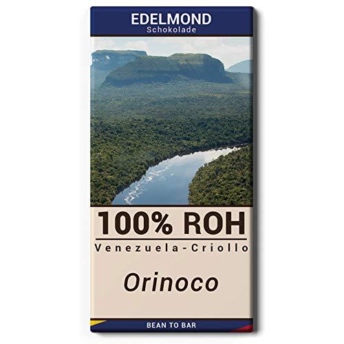 Edelmond 100% Orinoco Roh-Schokolade - Seltene Criollo Kakaobohnen aus Venezuela - sehr bitter - 73g