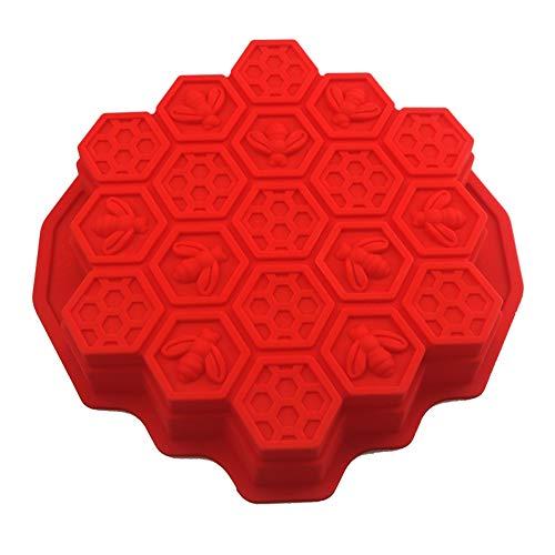 Dawwoti Big Bee Hive ijsblokjesbak, BPA-vrij-vorm-bakje, chocolade, gelei-siliconen, fondant, taartvormen, willekeurige kleur