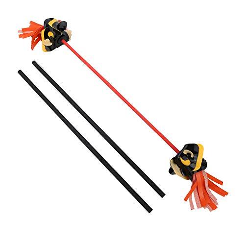 ChuhapII Professional Juggling Flower Sticks Devil Sticks (30.3' 4.96OZ) + 2 Hand Sticks (20.5'...