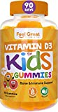 Vitamin D3 1000IU Gummy Vitamins for Kids (90 Day) by Feel Great Vitamin Co | 90 Gummies | Delicious Pectin Gummies | Supports Healthy Bones, Teeth, Mood, Immune System*