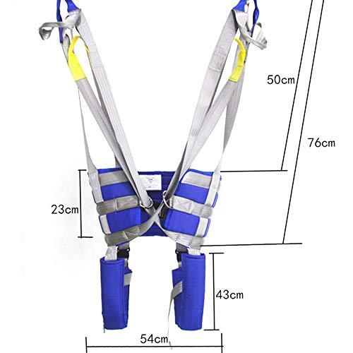 41XFPH5rYEL - ZIHAOH Cabestrillo De Elevación De Paciente De Cuerpo Completo, Cinturón para Caminar Asistido por El Paciente, Las Piernas Se Pueden Separar, Seguridad De Enfermería