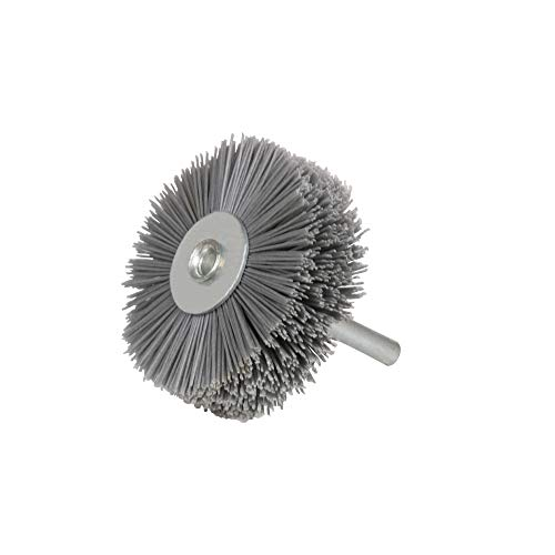Nylon Wheel Brush,400 Grit Wheel Brush Grinding Tool Woodwork Polish Drill Attachment for Cleaning Rust and Abrasive with 5/12 Inch Shank