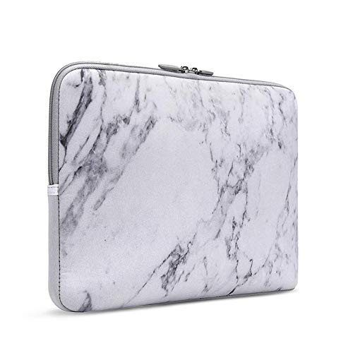 iCasso 13-13.3 Inch Laptop Sleeve White Marble, Neoprene Elegent Protective Notebook Bag Briefcase Cover Carrying Case MacBook Air, MacBook Pro, Tablet PC, Ultrabook, Netbook