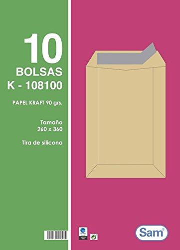 Sam A.108100 - Pack de 10 bolsas con tira de silicona