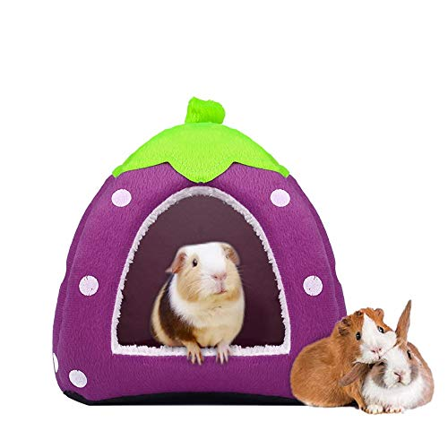 Spring Fever Hamster Guinea Pig Rabbit Dog Cat Chinchilla Hedgehog Bird Small Animal Pet Bed House Hideout Cage Accessorie D Purple S