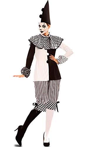 Disfraz de Arlequina Blanca y Negra para mujer