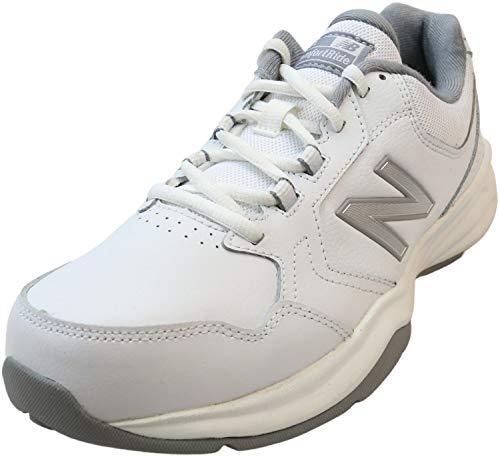 New Balance Men's 411 V1 Walking Shoe, White/Silver Mink, 13 XW US