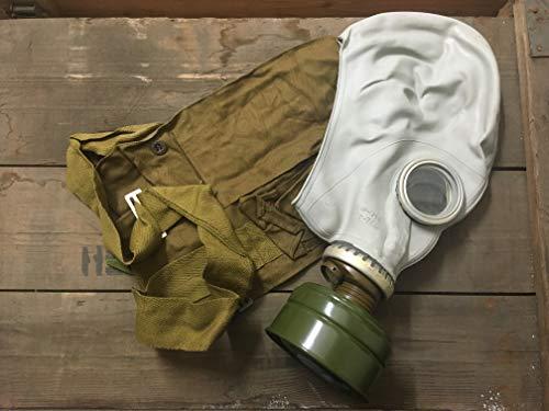 OldShop Gasmaske GP5 Set - Sowjetische Militär Gasmaske Replica Sammlerstück Set W/ Maske, Tasche - authentischer Look & Verschiedene Größen erhältlich (S, Grau)