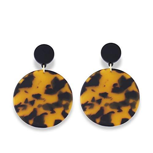 GLJIJID Kreative Vielseitige Acrylohrringe, Schlichtes Und Elegantes Design, Machen Sie Frischer Und Eleganter Leichter Leopard