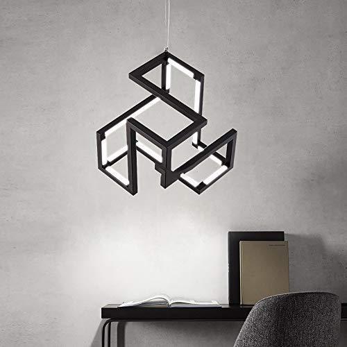 RGF Modern Creative LED en Forma de Hierro Negro + acrílico Dormitorio Sala de Estar Restaurante Sala de Estudio Araña/Luz de Techo/Lámpara