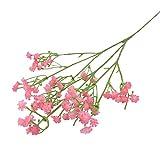 KOLOSM Flores Naturales Domicilio Flores Artificiales Plástico Gypsophila DIY Ramos Floral Arreglo para la decoración del hogar de la Boda (Color : Pink, Size : 3bunches)