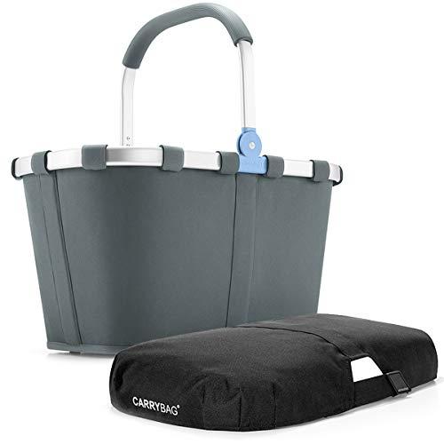 reisenthel Angebot Einkaufskorb carrybag Plus passendes Cover Sichtschutz Abdeckung (Basalt)