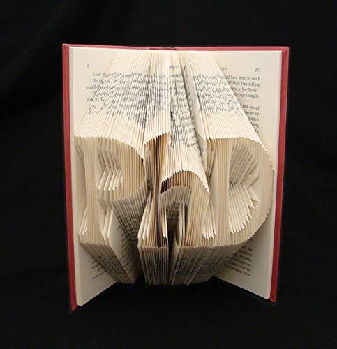 PhD - 3 Letters - Doctorate - Graduate - Folded Book Art Sculpture (choose...