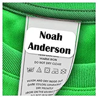 60 Clothing Tag Labels, Laundry Safe Labels for Clothing, Personalized with Your Name (White)
