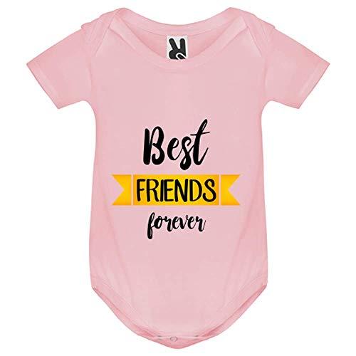 My-Kase Body bébé - Best Friends Meilleurs Amis - Bébé Fille - Rose - 9MOIS