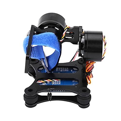 Surebuy Pieza de cuadricóptero con Estructura de aleación de Aluminio, cardán de cámara sin escobillas con Bola de Goma para cámara 3/3+ / 4, Pieza de cuadricóptero RC Drone(Black)