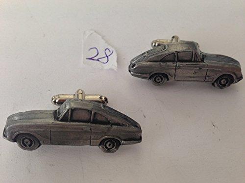 Bond Equipe GT (2 de 2) - 3D-Boutons de manchette Homme-Classique-Bouton de manchette en étain effet ref28
