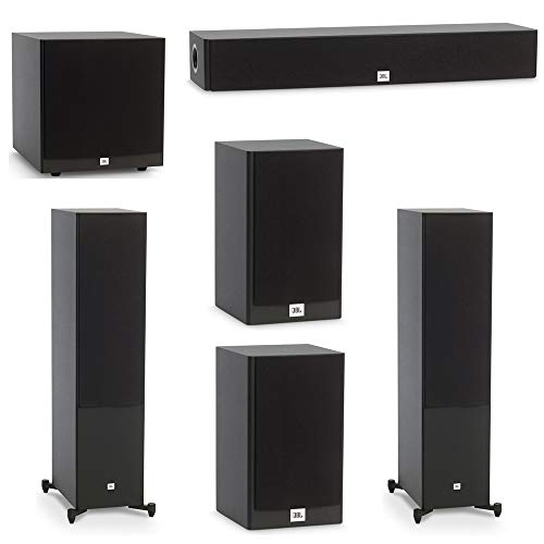 Great Deal! JBL 5.1 System with 2 JBL Stage A190 Floorstanding Speakers, 1 JBL Stage A135C Center Sp...