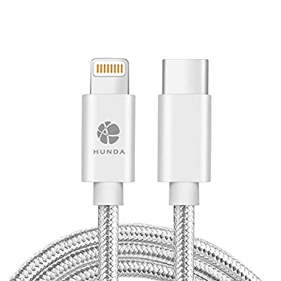 Type C to Lightning Cable,HUNDA 3FT USB C to Lightning Cable, MFI Certified, Data Transfer and Fast Charging for iPhone 11/Xr/XS/X/8, iPad/New MacBook/Chromebook Pixel/HP Pavilion