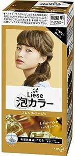 KAO Japan Liese Prettia Creamy Bubble Hair Color for Dark Hair European Series (French Beige)