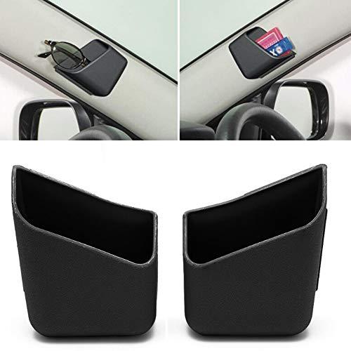 ulofpc 2pcs Universal Brillen Halter für Auto-Visor-Telefon-Stift Organisator Speicher Tasche Box