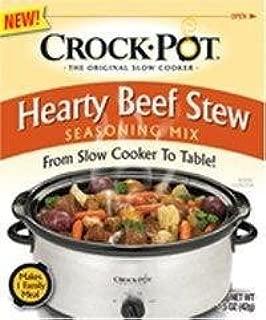 Crock Pot Hearty Beef Stew Seasoning Mix (1.5 oz Packets) 3 Pack by Crock-Pot