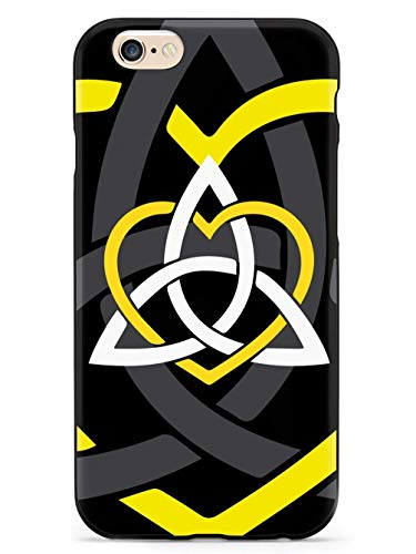 WLYing Case for iPhone 6/6s with TPU Bumper Protective Phone Case for iPhone 6/6s Celtic Sisters Knot Yellow Black