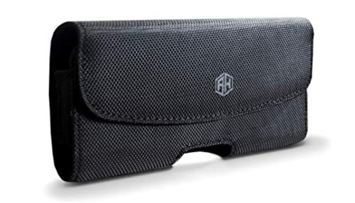 Handy-Halterung in Militärqualität, mit Clip, Handy-Nylon-Gürtelhalterung, kompatibel mit iPhone 12 Pro Max 7 Plus 8 Plus, Holster passt mit Hülle (Segeltuch)