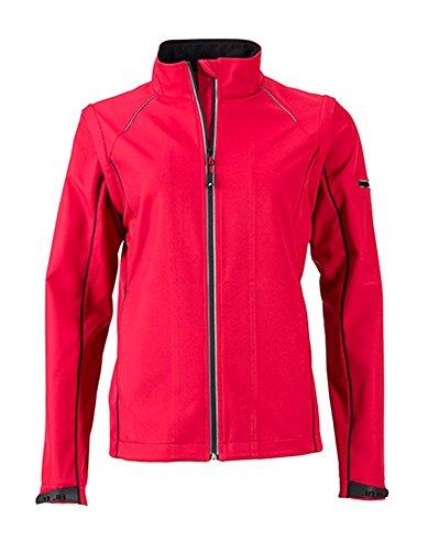 Ladies` Zip-Off Softshell Jacket, Größe:M, Farbe:Red-Black