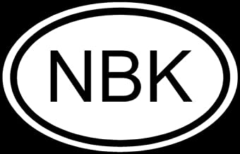 Ranger Products NBK Sticker Natural Born Killer Serial Murder Car Decal - Die Cut Vinyl Decal for Windows, Cars, Trucks, Tool Boxes, laptops, MacBook - virtually Any Hard, Smooth Surface