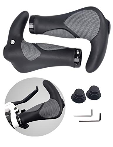 Single Lock-On Ring MTB and BMX Bicycle Handle Bar with Non-Slip Grip MARQUE Grapple Mountain Bike Handlebar Grips
