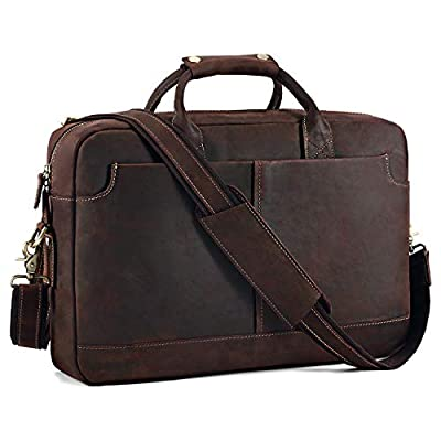 "Kattee Vintage Genuine Leather 15.6"" Laptop..."