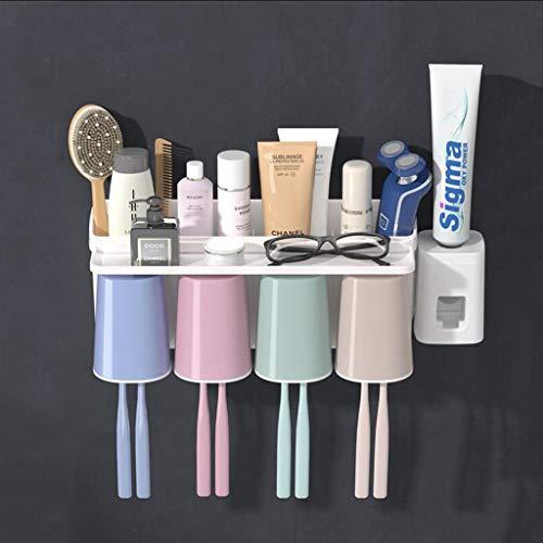 GZKOZ Freie Zahnbürste Zahnstange Badezimmerwand Saugbürste Cup Perforierte Wand Geschränkten Zähnen Mit Zahn Zylinderwandung Mundspülungen