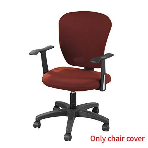 YUOKI99 Stuhlbezug Elastischer Stoff Schutz Separater Sitz Weicher Sessel Stretch tierender Aufzug Büro Universal Anti Staub Dekorativer Computer Modern(3)