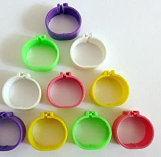 F-P 16mm Laser Plastic Numbered 001-100 Chicken Leg Bands Duck Chicken Goose Rings