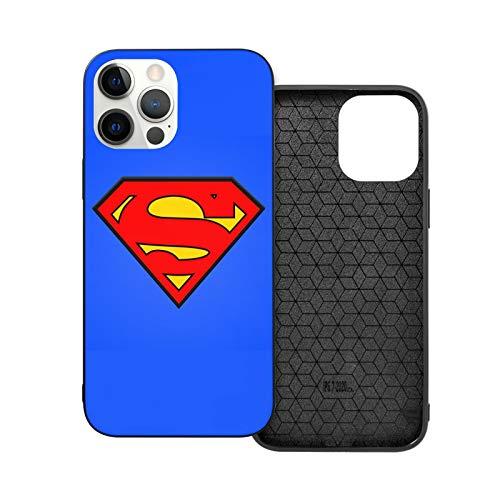 VOROY Supermen A-P-P-L-E - Carcasa para iPhone 12, diseño de logotipo de Supermen