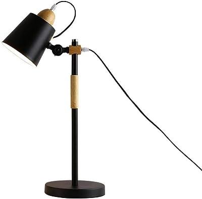 Lámpara de mesa led de hierro, lámpara de lectura de protección ...